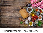 ingredients for cooking and... | Shutterstock . vector #262788092
