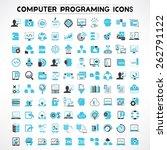 programmer icons set  software... | Shutterstock .eps vector #262791122