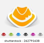 realistic design element. hat | Shutterstock .eps vector #262791638