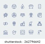 energy and electricity icon set ...