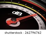 decibel measurement. gauge with ... | Shutterstock . vector #262796762