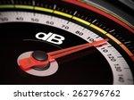 decibel measurement. gauge with ... | Shutterstock . vector #262796762