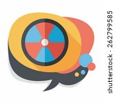 radiation flat icon with long... | Shutterstock .eps vector #262799585