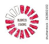 design of progress bar  loading ... | Shutterstock .eps vector #262802102