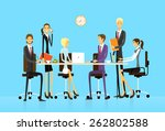 business people group sitting... | Shutterstock .eps vector #262802588