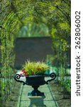 green park arch and a vase of... | Shutterstock . vector #262806002