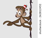 good monkey shows on what that... | Shutterstock .eps vector #262812452