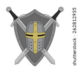 two crossed swords shield and... | Shutterstock .eps vector #262812935