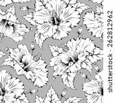 seamless pattern with exotic... | Shutterstock .eps vector #262812962