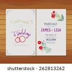 wedding invitation florals | Shutterstock . vector #262813262