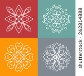vector floral icons and logo... | Shutterstock .eps vector #262814888