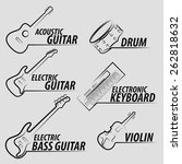 musical instrument icon set... | Shutterstock .eps vector #262818632