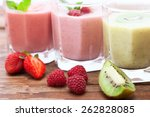 drink smoothies summer... | Shutterstock . vector #262828085