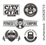 set of stylish fitness emblems. ... | Shutterstock .eps vector #262828715