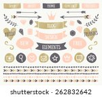 a set of trendy blog design... | Shutterstock .eps vector #262832642