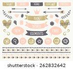 a set of trendy blog design... | Shutterstock .eps vector #262832642