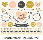 a set of trendy blog design... | Shutterstock .eps vector #262832792