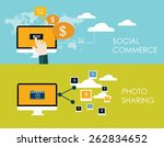 internet of things and sharing... | Shutterstock .eps vector #262834652