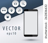 smartphone mock up with flat...