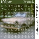one hundred  vector line icons...