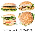 Cheeseburger Isolated On White...