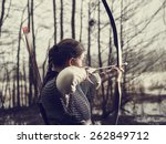 Medieval Archer Woman  She...
