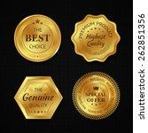 golden metal best choice... | Shutterstock .eps vector #262851356