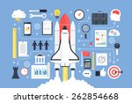 business startup  new project.... | Shutterstock .eps vector #262854668