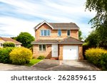 new detached house with garage | Shutterstock . vector #262859615