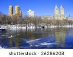 Luxury towers at Central Park in New York - stock photo