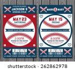 set of vintage baseball tickets | Shutterstock .eps vector #262862978