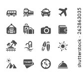 travel and vacation icon set 5  ... | Shutterstock .eps vector #262863035