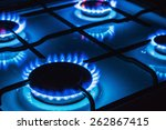 burning blue gas. focus on the... | Shutterstock . vector #262867415