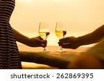 Romantic Couple Enjoying Wine...