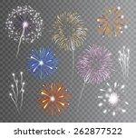 realistic carnival multicolored ... | Shutterstock .eps vector #262877522