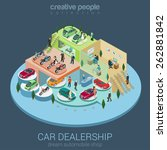 flat 3d isometric car... | Shutterstock .eps vector #262881842