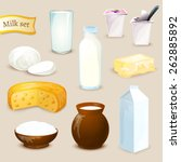 milk food and drink products... | Shutterstock .eps vector #262885892