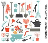 Vector Gardening Icons   Tools...