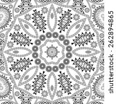 black and white floral seamless ... | Shutterstock .eps vector #262894865