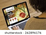 cooking recipes online  cooking ... | Shutterstock . vector #262896176