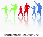 man with son dancing together | Shutterstock .eps vector #262904972