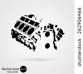 motorcycle engine icon. vector... | Shutterstock .eps vector #262906466