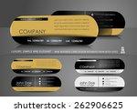 mini business card design in...   Shutterstock .eps vector #262906625