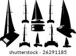 Catamaran Boat Silhouettes...