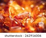 Beautiful Fiery Amber In Macro