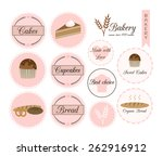 badges and labels for bakery... | Shutterstock .eps vector #262916912