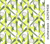 seamless pattern with healthy... | Shutterstock .eps vector #262919438