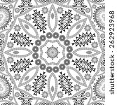 black and white floral seamless ... | Shutterstock . vector #262923968