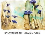 watercolor illustration... | Shutterstock . vector #262927388