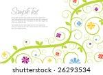 swirly flower invitation... | Shutterstock .eps vector #26293534